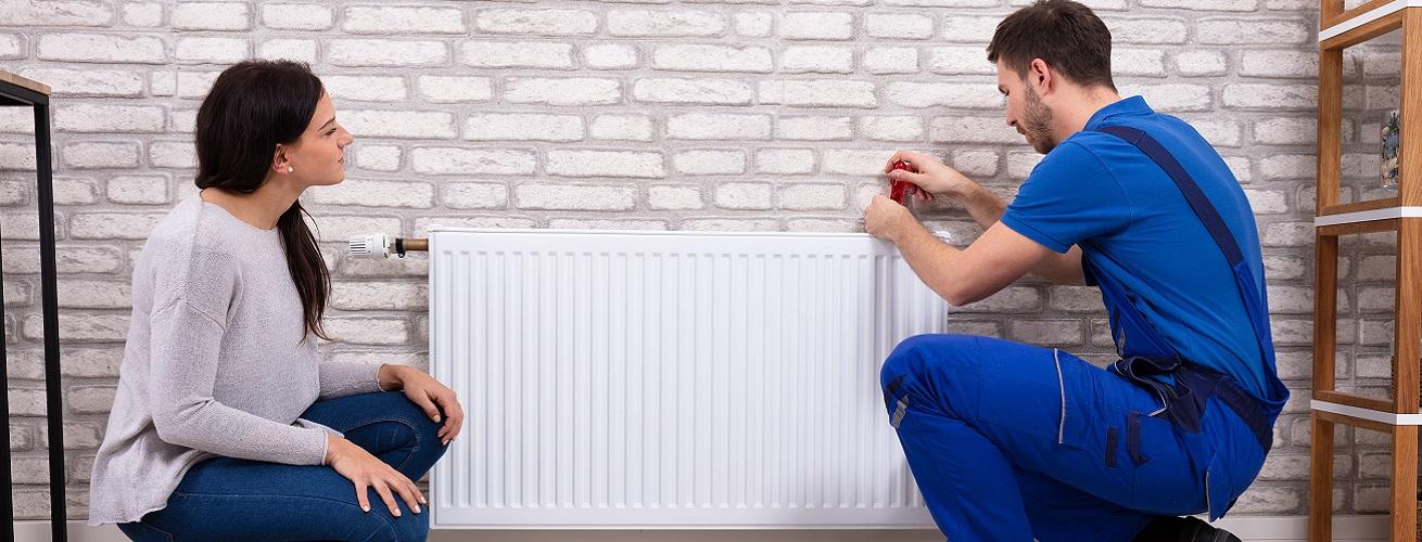 Installation de radiateur